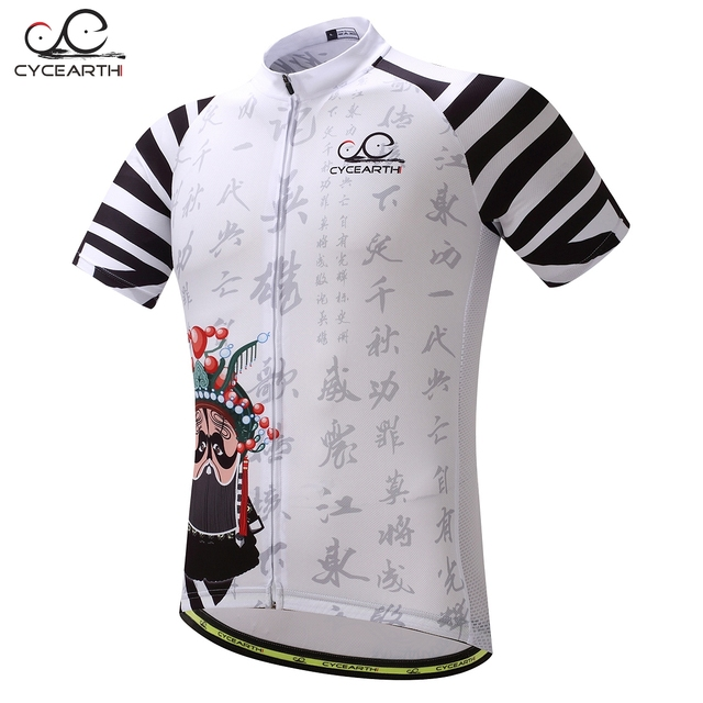 CYCEARTH 2017 Men Summer Breathable cycling jersey short sleeve clothes Sportwear Shirt Maillot Ropa Ciclismo CE0020