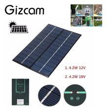 Universal 4.2W 18V Solar Battery Power Charging Panel Charger Controller For Motorbike Boat w/Clip Kit Phone tablet pc