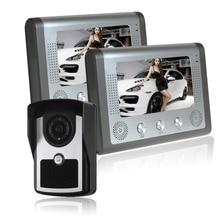 7 inch screen indoor unit Wired video intercom doorbell Villa unlocking access control Rain with night vision