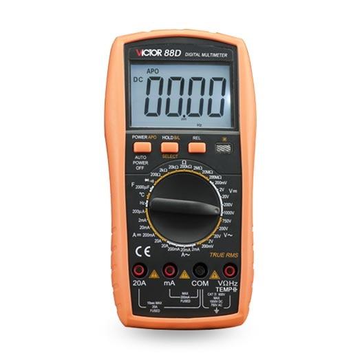 цена на VICTOR 88D Resistance Testing Volt Amp Ohm Meter Multimeter streamline
