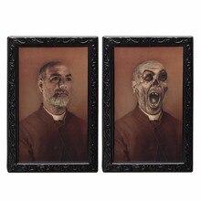 3D Ghost Photos Plastic Frame Halloween For Horror House
