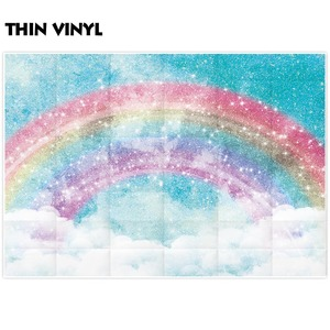 Image 2 - Allenjoy ภาพพื้นหลัง glitter rainbow sky cloud unicorn ฉากหลัง photocall photobooth ถ่ายภาพ prop studio ผ้า