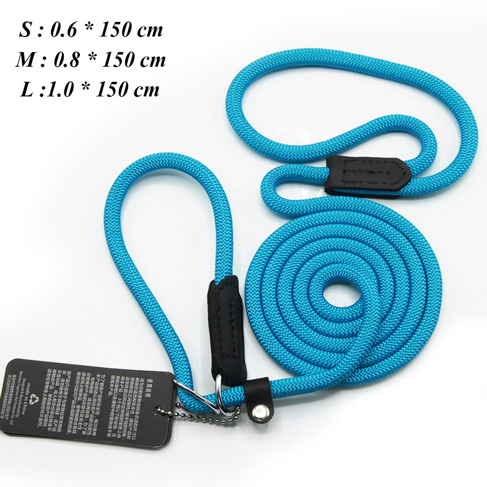 Dog Leashes For Small Dogs Collar Nylon Puppy Leash Collar Dog Leash For Large Dogs Basic Leashes Solid Rope (7)