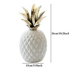 VILEAD 10.2 26cm Ceramic Pineapple Decorative Figurines Creative Fruit Ornament Model Home Decoration Accessories Good Gifts