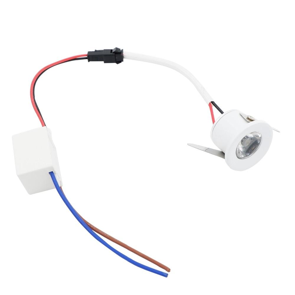 Yaeer Mini foco LED empotrable para l/ámpara de armario 1 W color blanco