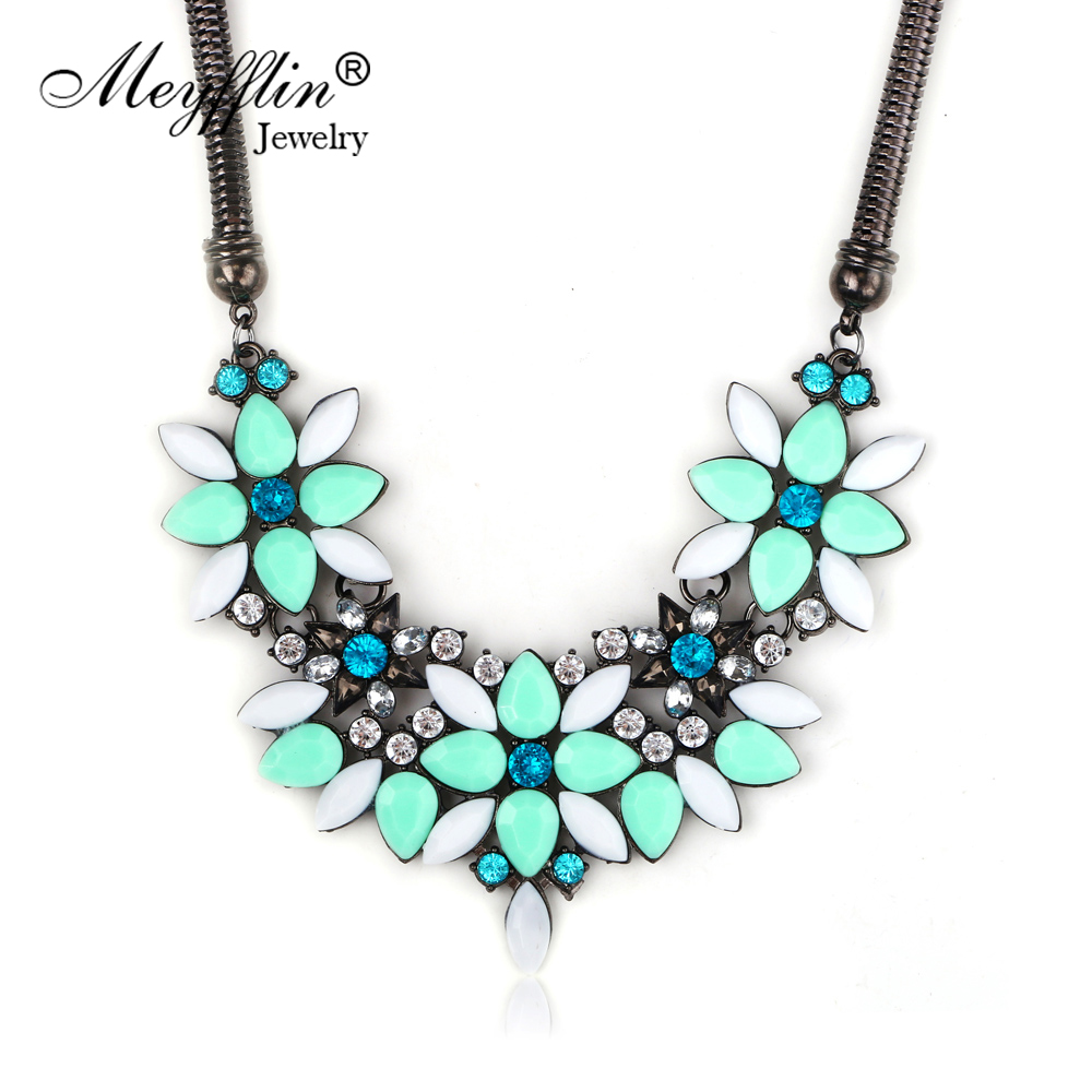 ᐃ2017 NEW Flower Statement Necklaces & Pendants Fashion Jewelry ...