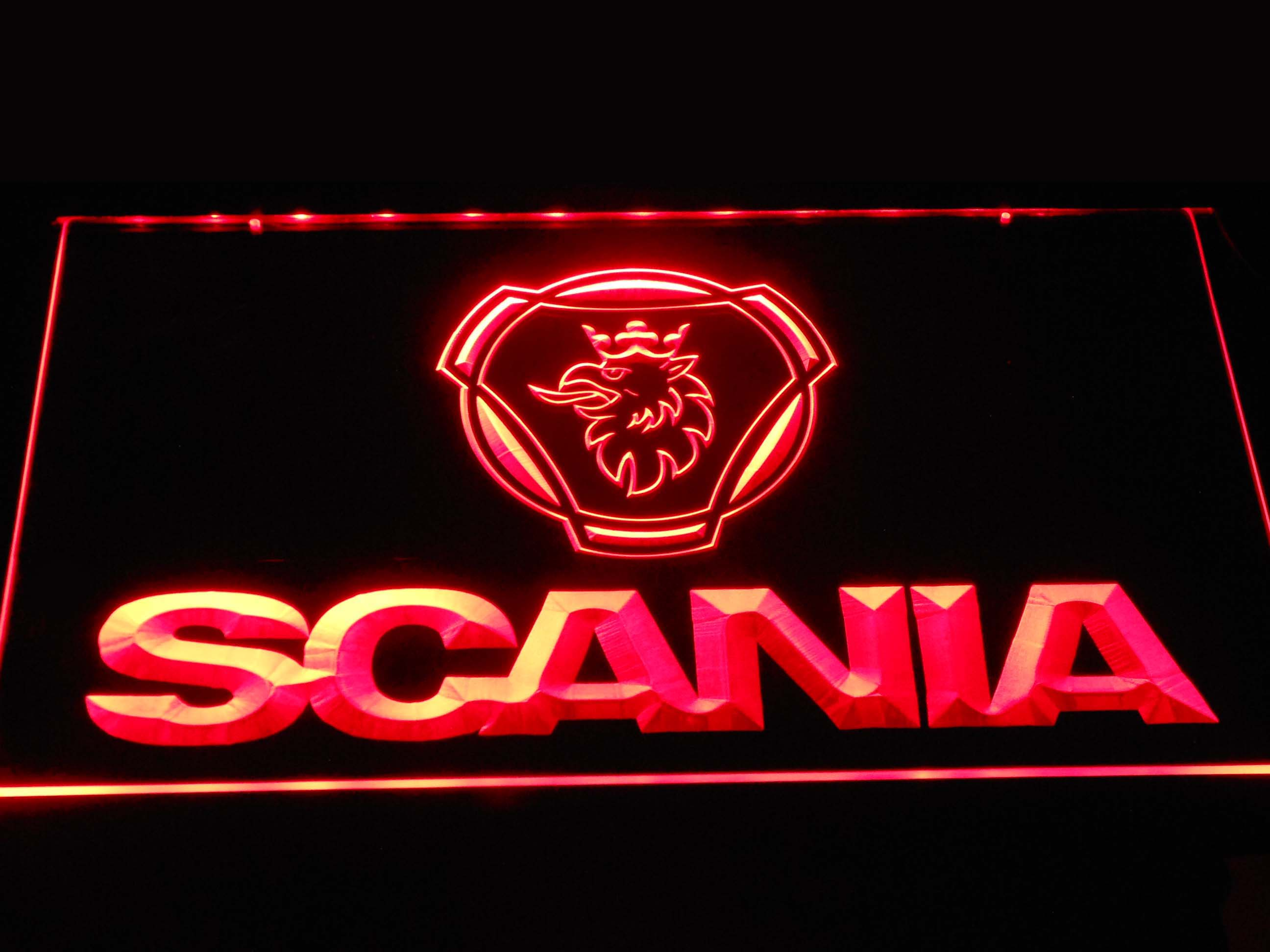d393 Scania Car Truck LED Neon Sign with On/Off Switch 7 Colors to choose
