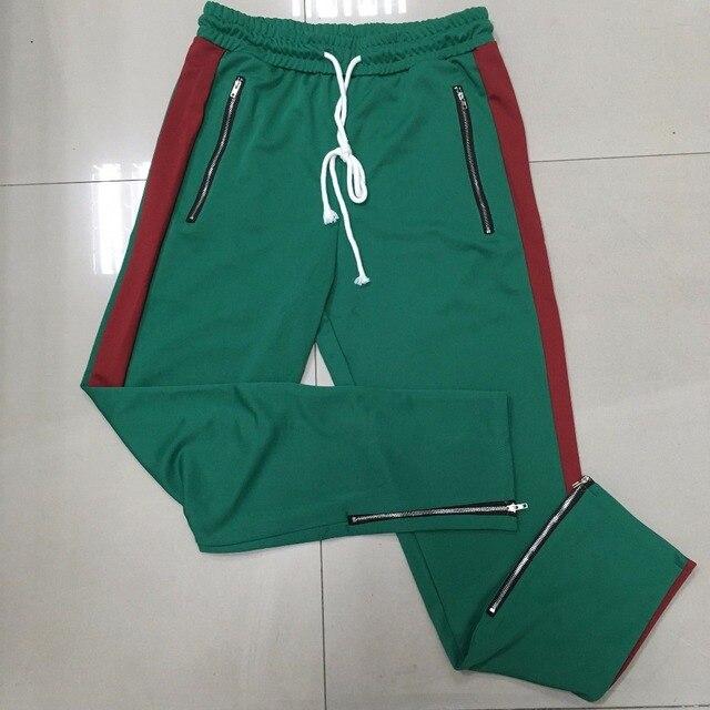 71b84f44cb2 Side stripe zipper zipped pants for women mens Casual ankle track  sweatpants Contrast striped slim harem joggers Pants sweatpant