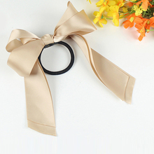 1pcs Women Rubber Bands Tiara Satin Ribbon Bow Hair Band Rope Scrunchie Ponytail Holder Gum for Hair Accessories Elastic 10 pcs elastic hair rubber bands rope scrunchie ponytail holder accessories hair band freeshipping