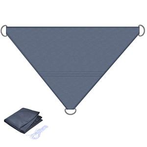 Image 5 - משולש מקלט שמש שמשייה הגנה חיצוני חופה גן פטיו בריכת צל מפרש סוכך קמפינג פיקניק אוהל