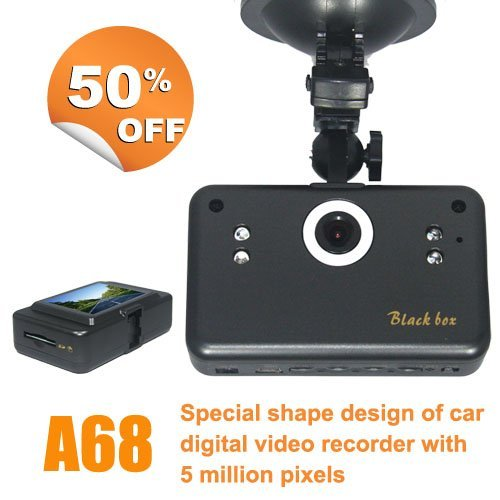 Special Offer Car Camcorder DVR Camera Recorder  Wholesale vehicle Camera Black Box With 2.5 inch HD  LCD screen A68