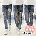 Primavera Menina 2017 Crianças Novas Calças de Lazer Meninas de Todos Os Jogos Calças Jeans Menina Cowboy Coreano