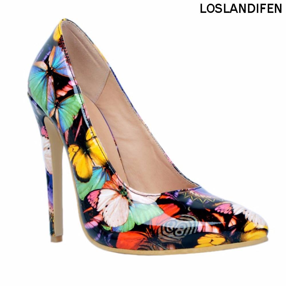 أزياء المرأة اليدوية 10cm خليط الانزلاق على حجم كبير أحذية عالية الكعب مضخات XD039