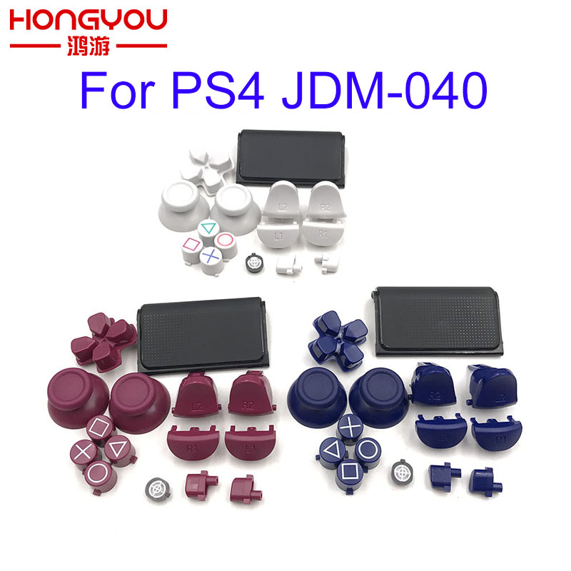 Full Set Joysticks Dpad R1 L1 R2 L2 Direction Key ABXY Buttons Jds 040 Jds-040 For Sony PS4 Pro Slim Controller