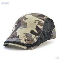 MAERSHEI Netto effen kleur katoen camouflage cap mannen casual hoed dames outdoor zomer hoed