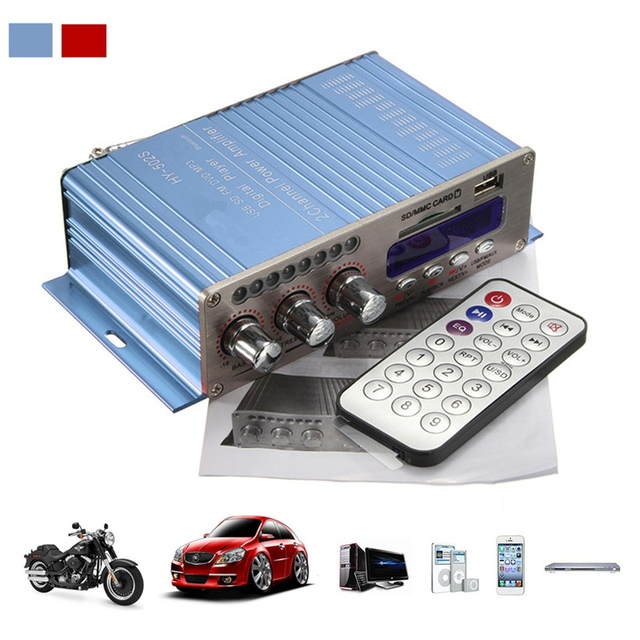 Special Offers HY502S Bluetooth Car Power Amplifier Stereo Sound Mode HiFi 2 Channel Mini Digital FM Audio + MP3 Speaker Music Player