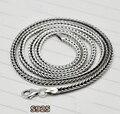 100% реального стерлингового серебра 925 Yi Гу цепи ожерелье S925 серебряные ожерелья для женщины мужчины ювелирные изделия винтажном стиле высокое качество YFHN13