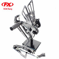 FXCNC Aluminum Adjustable Motorcycle Rearset Rear Set Foot Pegs Pedal Footrest For YAMAHA FZ 09 MT 09 MT09 2013 2014 2015 2016