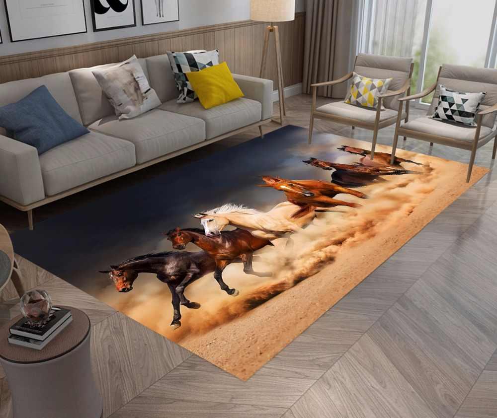 Коврики и ковры для лошадей, для детей, для дома, для гостиной, большая Нескользящая подушка, для спальни, WC, для кухни, для пола, для ванной комнаты, коврики