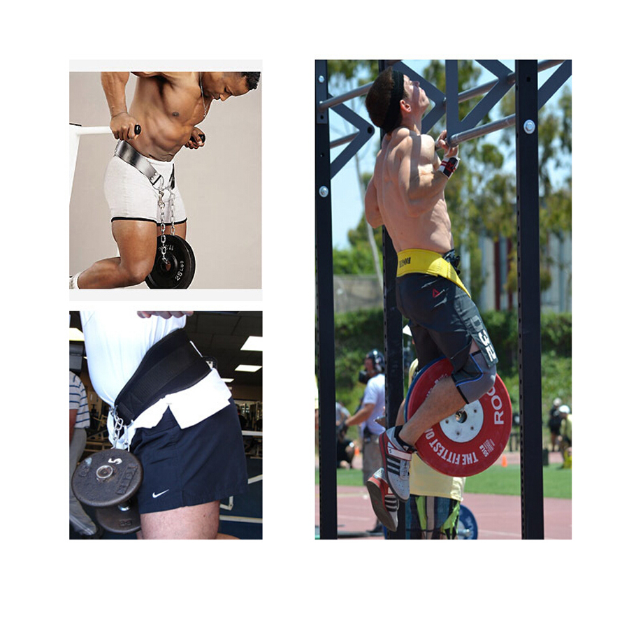 Home Fitness Exercise Drop Shipping Dip Belt Weight Lifting Gym Body Waist Strength Training Power Building Chain Pull Up