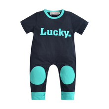 2017 Novel Summer Baby Rompers Gril Clothing Sets Infantis Newborn Boys Costume Short Sleeves lovely Boy Clothes