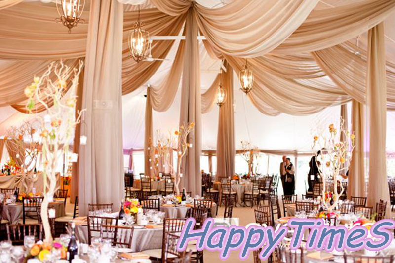 10pcs Lot Wedding Roof Decoration Luxury Celling Drapes In