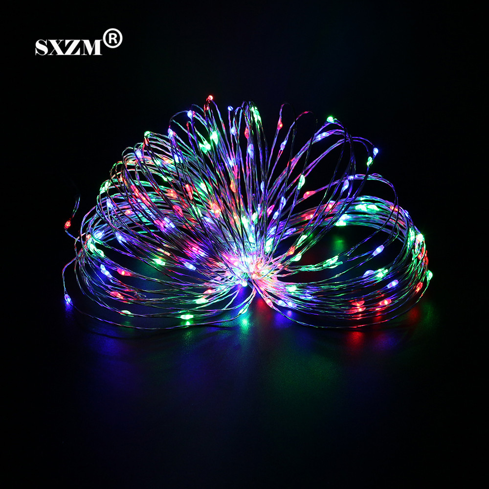 SXZM Waterproof 20 Meter Copper Led string 200leds silver wire holiday led lighting outdoor decoration for christmas,wedding