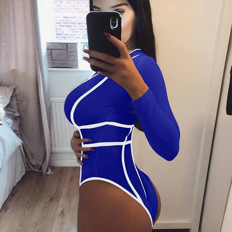 Swimsuit Woman 2019 Maios Sexy Bathing Suit One Piece Monokini Output Beach One-Piece Long Sleeve Shorts Nightclub Jumpsuits