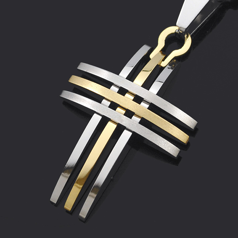 ATGO biciklističke modne muške ženske male križ privjesak ogrlica 316L nehrđajućeg čelika visoke kvalitete BP868