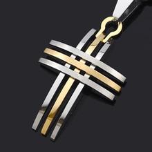 ATGO Biker Fashion Men's Women's Small Cross Pendant Necklace 316L Stainless Steel High Quality BP868
