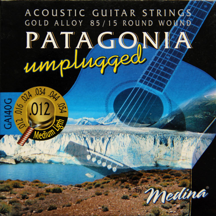 MAGMA Acoustic guitar strings unplugged - 85/15 Gold Alloy - Round Wound GA140G( .012-054) Medium Light