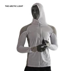 THE ARCTIC <font><b>LIGHT</b></font> Shirts Fishing Clothing Breathable Sunscreen Shirt Men Quick Drying UPF 50+ <font><b>Long</b></font> Sleeve Hooded Fishing Shirts