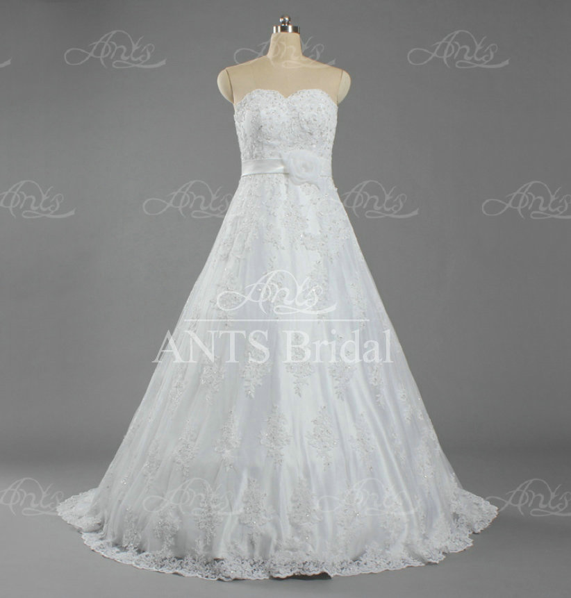 w1312 formal flower sash sweetheart bead lace wholesale wedding gown designer bridal dresseschina