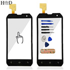 4.0'' For Cat B15q Mobile Phone Touch Screen Glass Front Glass Digitizer Panel Lens Sensor Flex Cable Tools Free Adhesive