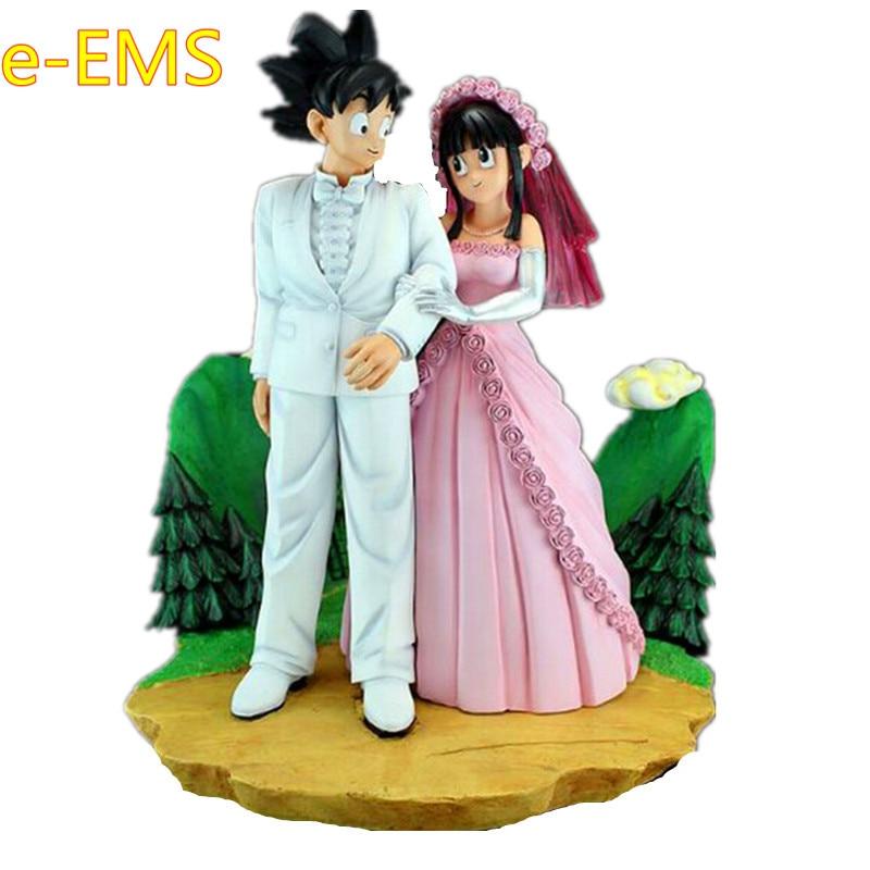 Anime Dragon Ball Z Super Saiyan Son Goku Chichi Get Married Scenes 1/6 GK Resin Statue Action Figure Model Toy G2356Anime Dragon Ball Z Super Saiyan Son Goku Chichi Get Married Scenes 1/6 GK Resin Statue Action Figure Model Toy G2356