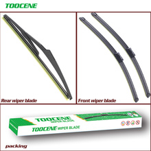 Front and Rear Wiper Blades For FIAT 500 2007-2016  Windshield Windscreen wiper Window 24+14+12 comparative chromometer lovibond colorimeter wsl 2 comparison colorimeter color difference meter