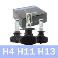 Car LED Headlights H8 H9 H4 H11 H7 LED Head Lamp Fog Light 50W 6500K CSP