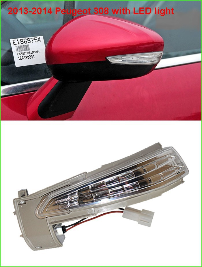 Free shipping !!! new OEM rear view mirror turn signal LED light side lamp for Peugeot 308 408 508 3008 Citroen C4L C5 зонт remax rt u12 dark blue