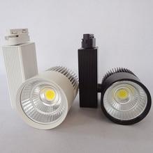 Free Shipping LED Track Light 30W COB Rail Light Spotlight Lamp  Warm/Cold/ Natural White COB Led Track lamp AC85-265V