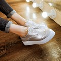 Women's New Fashion Pltform Single Shoes Ladies Flat Lace-up Casual Shoes Female Pointed Toe Flats All-match British Style Shoes