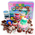 6set/lot  Light Clay Suit Manual Cake Playdough Gfit  Ultra-light Plasticine Clay Toxic Mud for Babys