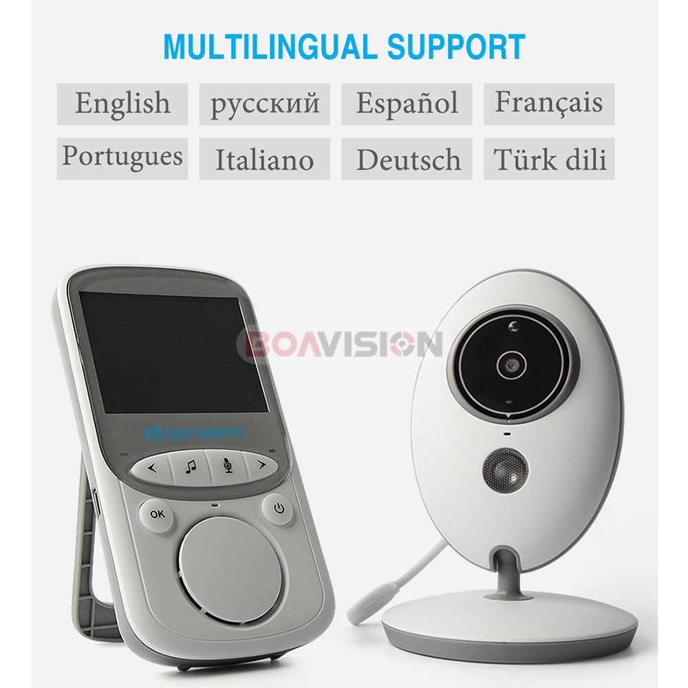 2 Inch Wireless Baby Monitor With Video And Radio As Mini Camera To Record your Baby At Home 5