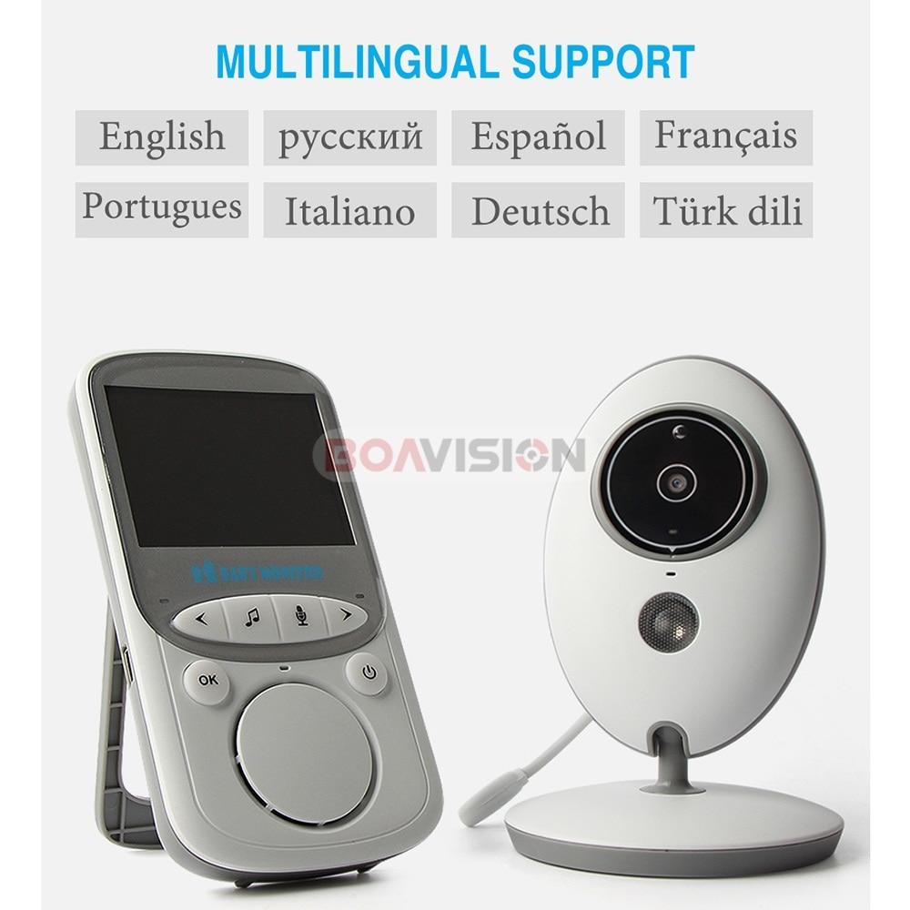 BOAVISION VB605 Portable 2.4 pouces LCD sans fil bébé moniteur vidéo Radio nounou caméra interphone IR Bebe Cam Walkie parler Babysitter - 6