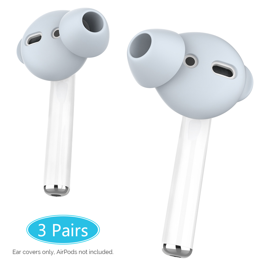 AhaStyle 3 Pairs Silicone In ear Headset Earbuds Cover for Airpods 2 Case Eartips Storage Box Pouch for Apple Airpods Accessories|Earphone Accessories| |  - title=