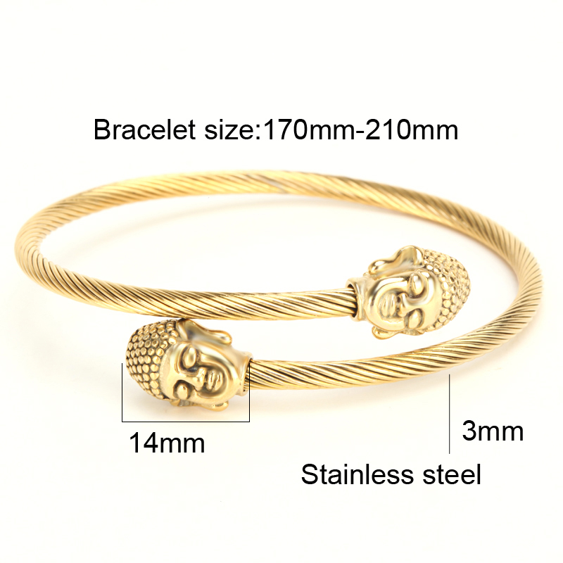 b70af7c360c Mcllroy Bracelets & bangles Love bangle Bracelet 2pcs/set Titanium steel  Buddha head Snag Couple Cuff bracelet Pulseiras-in Bangles from Jewelry ...