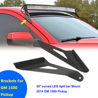 Auxmart Mounting Brackets For Chevrolet Silverado 1500 Pickup 2WD 4WD GMC Sierra Fit 50 Inch Curved
