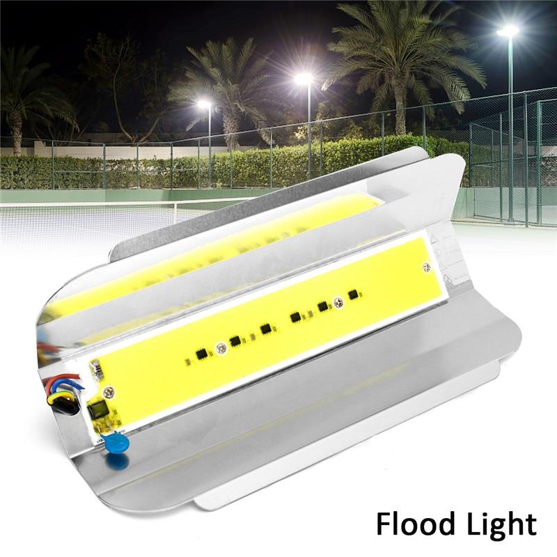 50W LED Iodine Tungsten Lamp Floodlights Outdoor Lighting Led Flood Light 220V COB Light Source 6500K Aluminum
