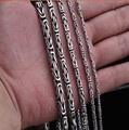 Silver Jewelry Silver Necklace retro peace lines men