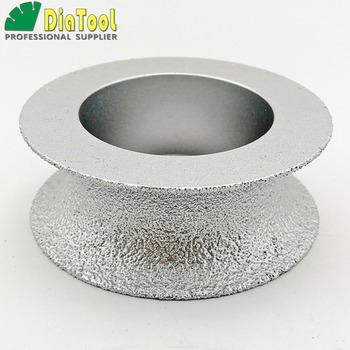 diatool dia75mmx30mm hand held grinding wheel vacuum brazed diamond flat grinding wheel profile wheel for stone artificial stone DIATOOL Dia75mmX25mm Half-round Vacuum Brazed Diamond HAND-HELD Profile Wheel For Stone Artificial Stone Ceremics Glass Concrete