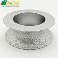 DIATOOL Dia75mmX25mm halbrunde Vakuum Gelötete Diamant HAND Profil Rad Für Stein Kunststein Ceremics Glas Beton|Schleifscheiben|Werkzeug -